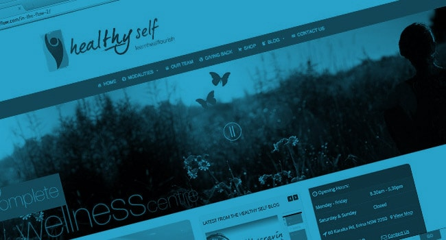 Mobile friendly web design Central Coast for HealTHY Self Centre