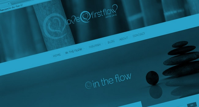 Mobile responsive website for Love at First Flow, Singapore