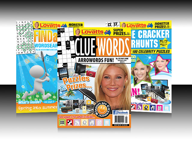 Magazine cover design - Lovatts Crosswords & Puzzles