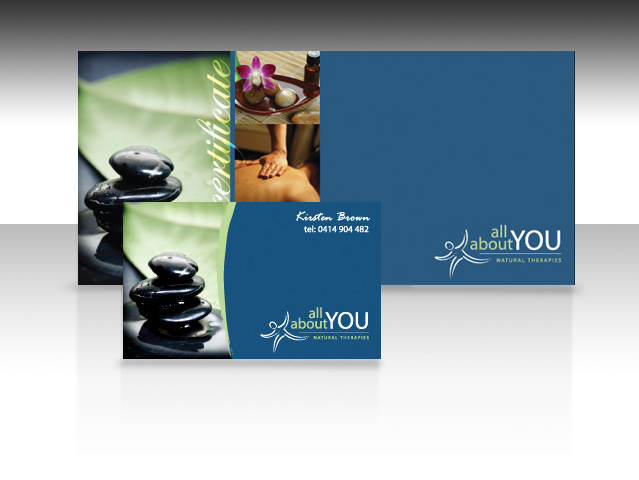 DL Gift certificate and business card - All About You