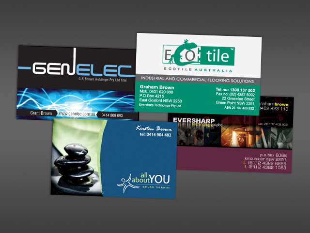 Business cards - various clients