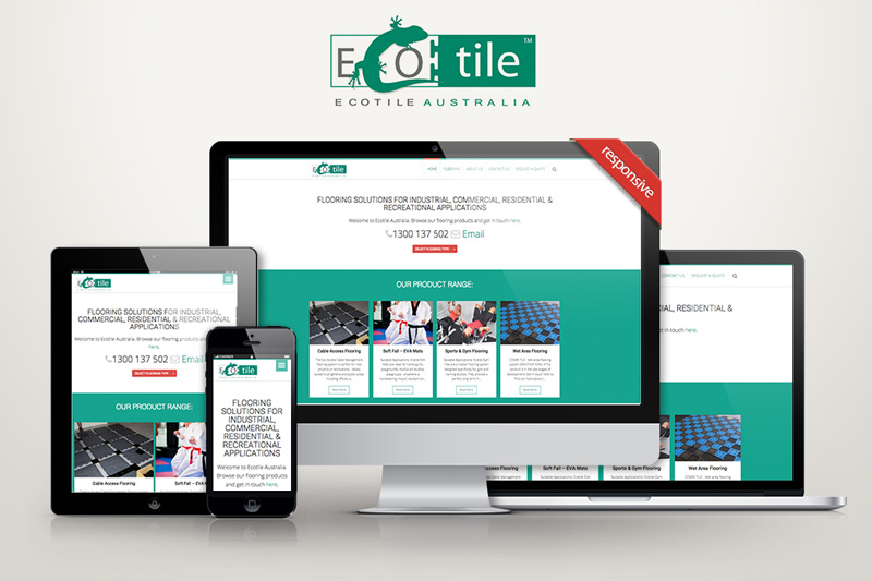 Ecotile Australia Website - Mobile Friendly Website Design by ARK Digital